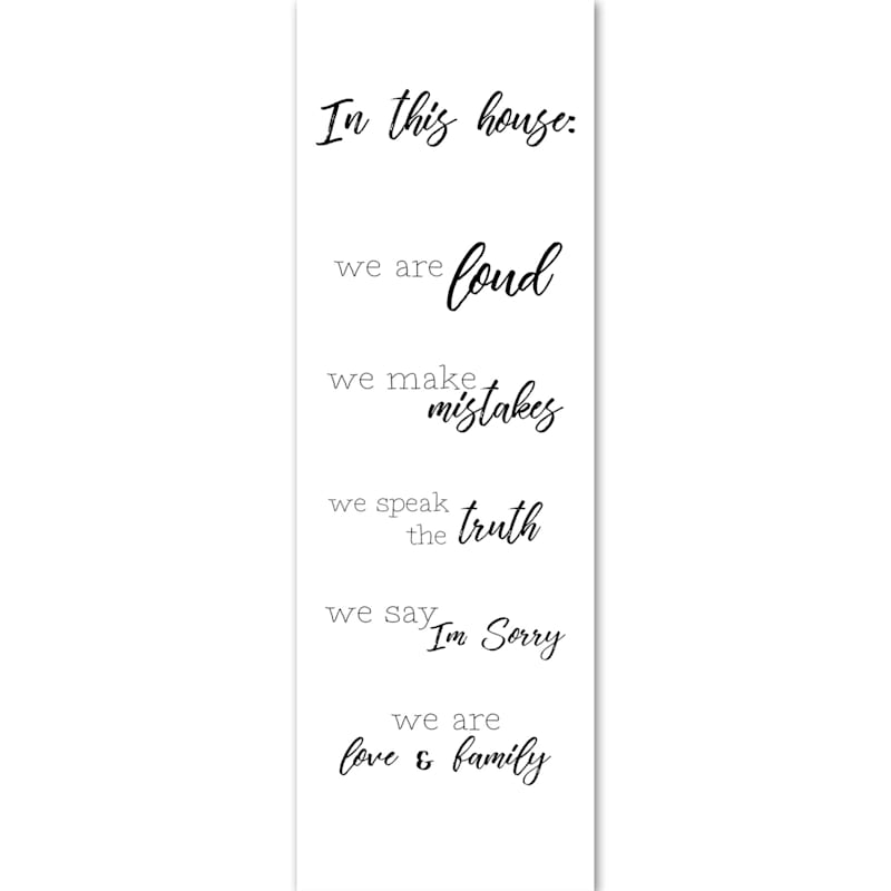 12X36 We Are Family Canvas Art