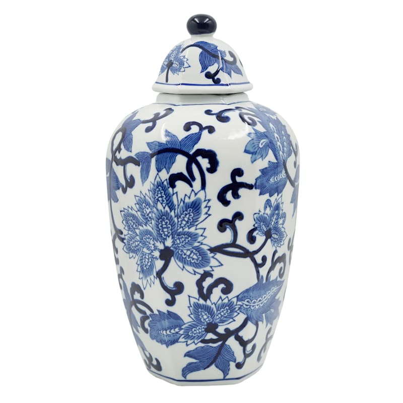8X14 White And Blue Jar