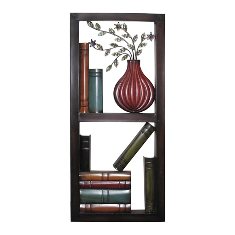 13X30 Metal Small Library Wall Decor