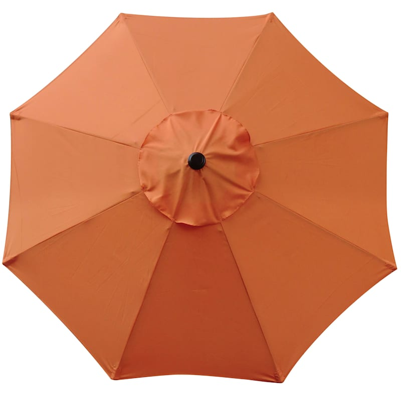 Steel Orange Round Crank & Tilt Outdoor Umbrella, 7.5'