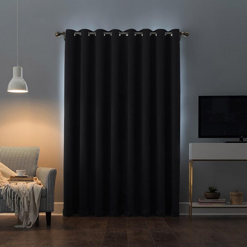 Oslo Black Blackout Grommet Window Panel 84in.