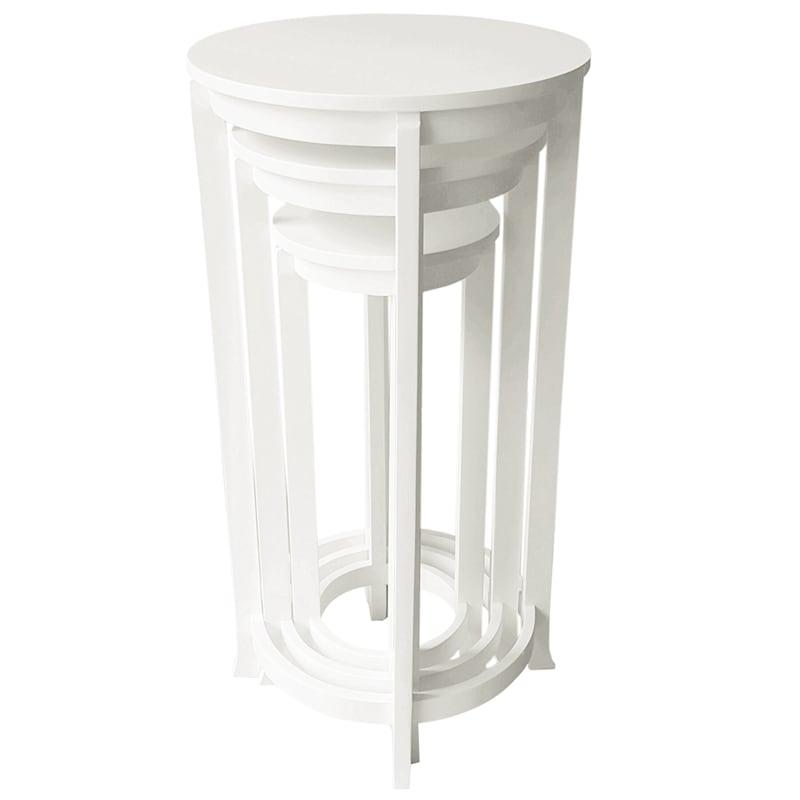 "Monroe Round Plant Stand White, 25"""