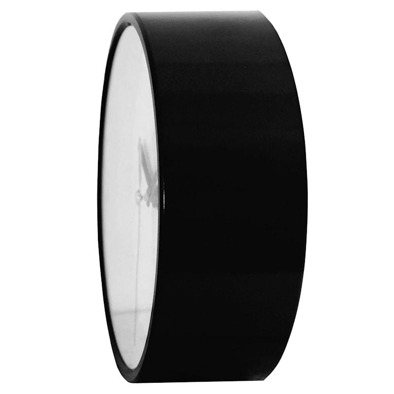 6X6 Black Round Accent Wall Clock