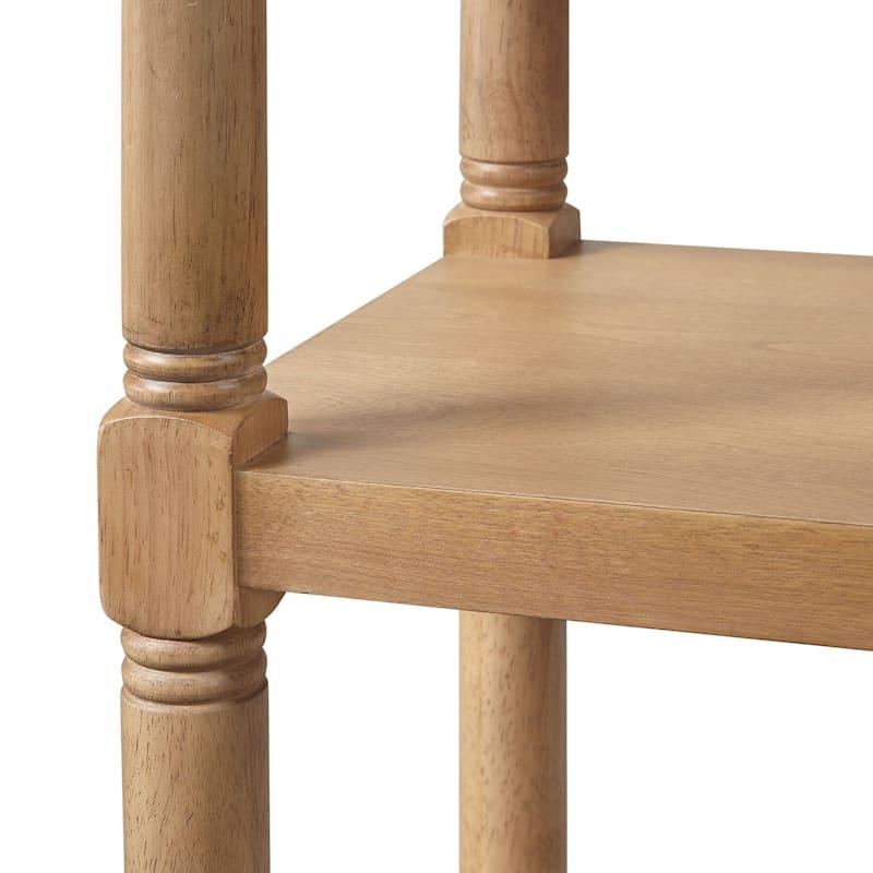 Monaco 4-Tier Light Brown Wood & Wood Veneer Bookshelf