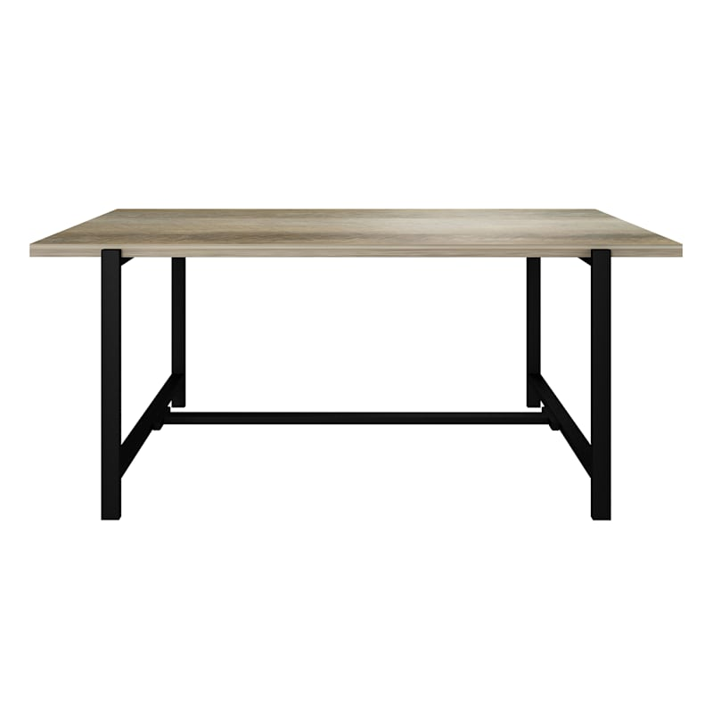 """Loggy Wood & Metal Dining Table, 71"""""""