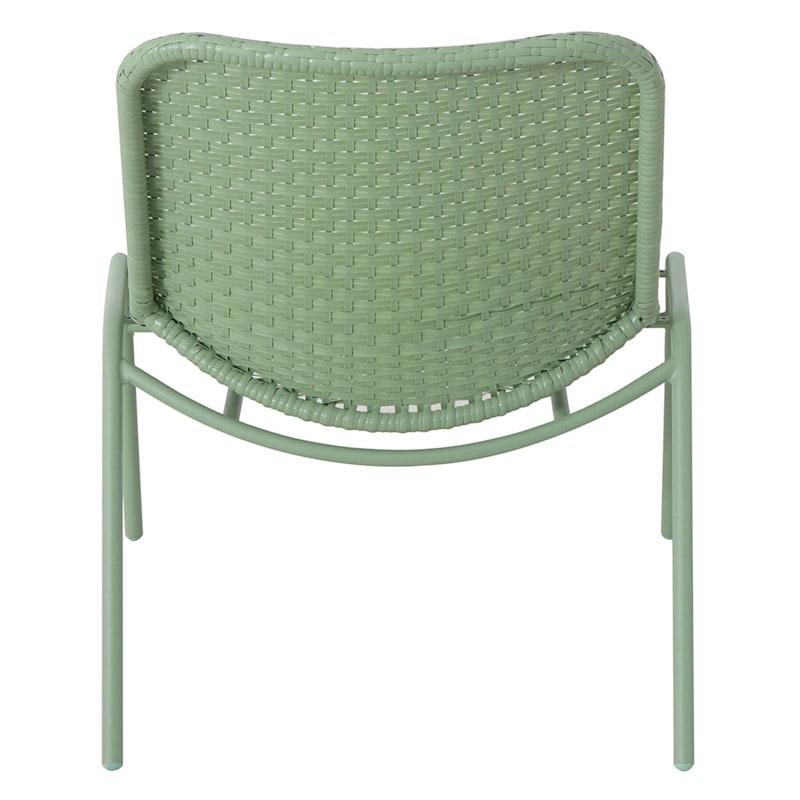 Rio Green Outdoor Wicker Lounge Chair