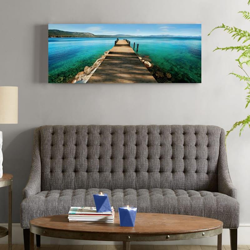 40X16 Hues Of Blue Canvas Art