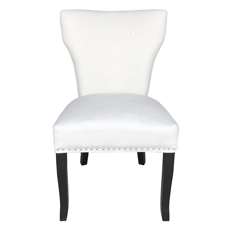 Jhene II Ivory Studded Back Dining Chair