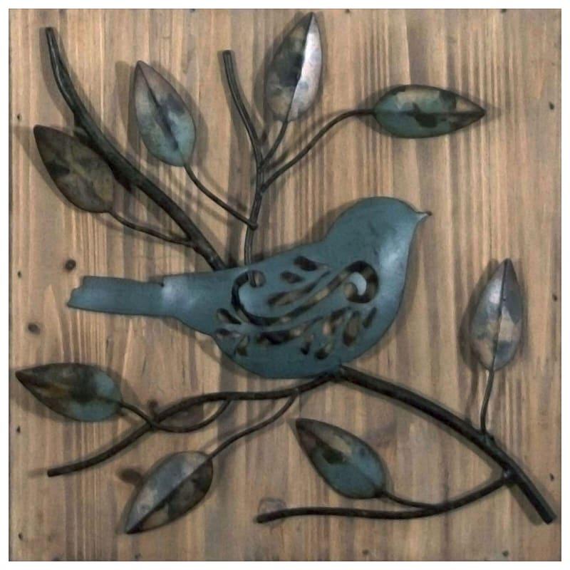 10X10 Metal Birds Square