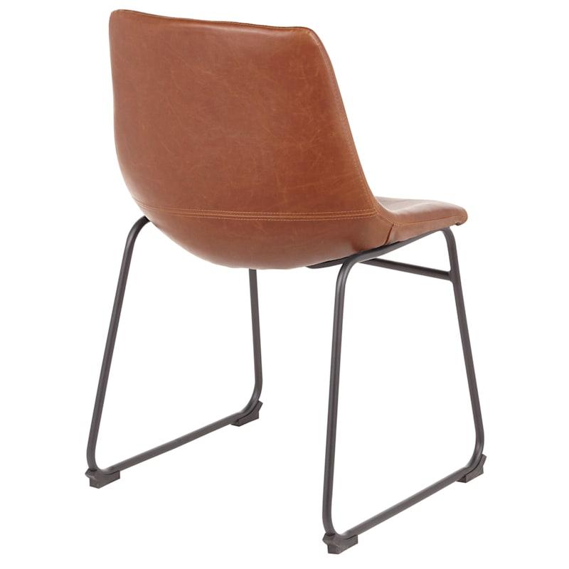 Duke Cognac Industrial Modern Dining Chair