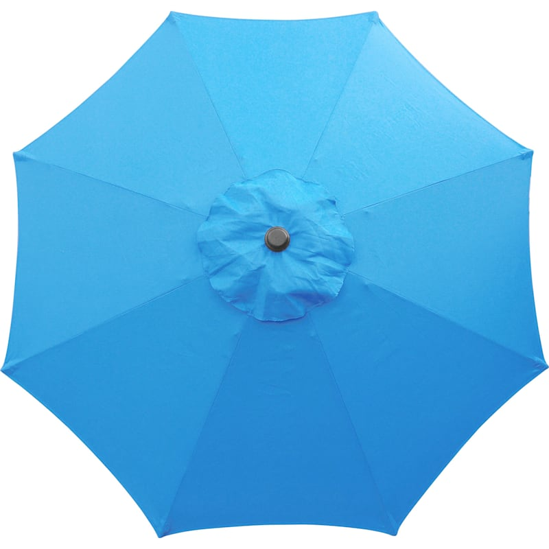 Steel Aqua Round Crank & Tilt Outdoor Umbrella, 7.5'