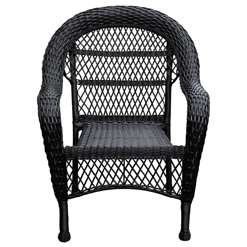 Outdoor Wicker Chair, Black