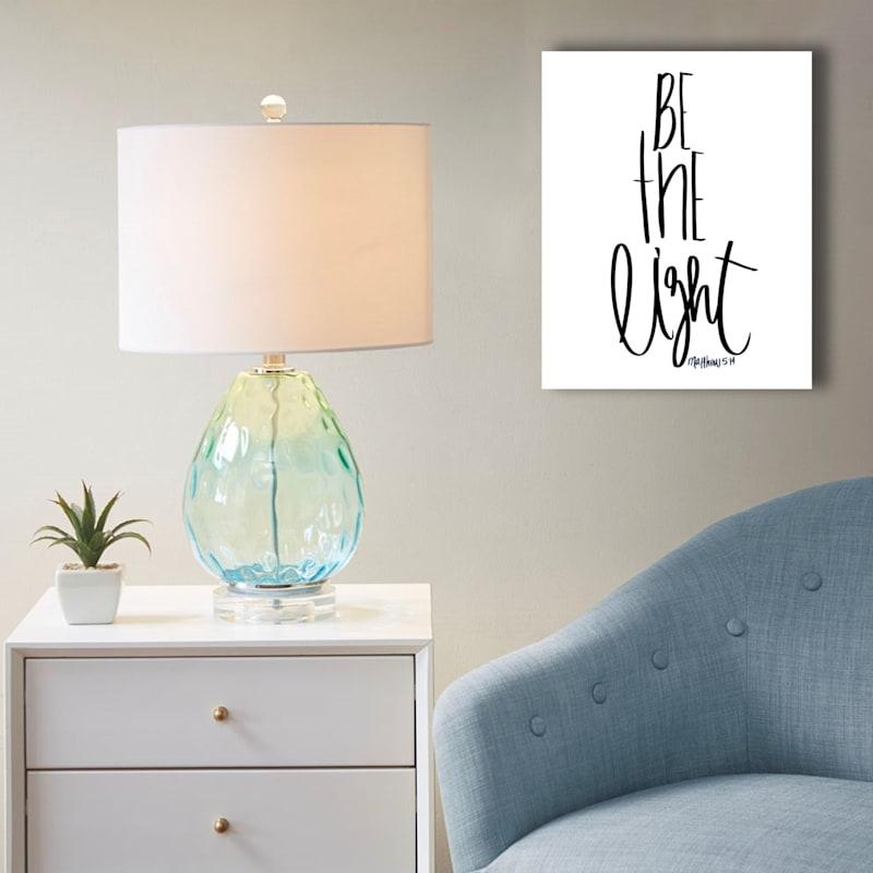 16X20 Be The Light Canvas Art