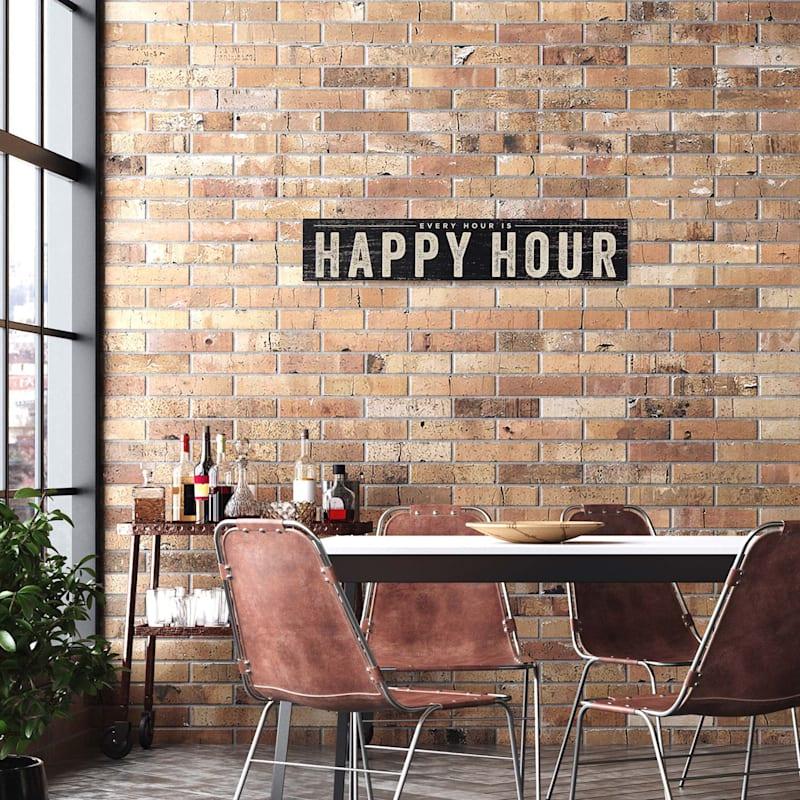 36X7 Happy Hour Wall Art