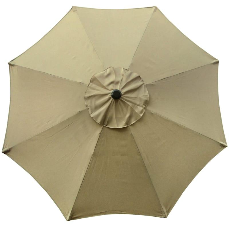 Steel Tan Round Crank & Tilt Outdoor Umbrella, 7.5'