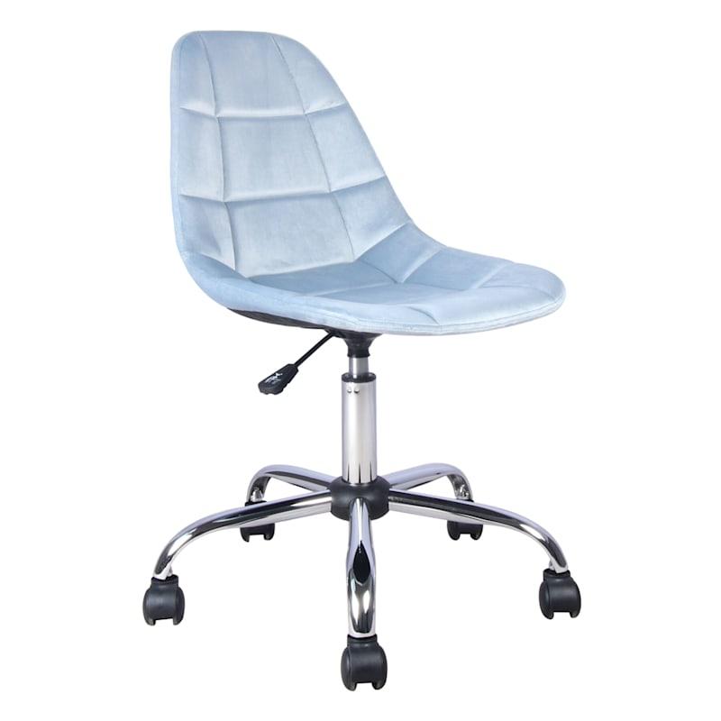 Olivia Blue Velvet Office Chair