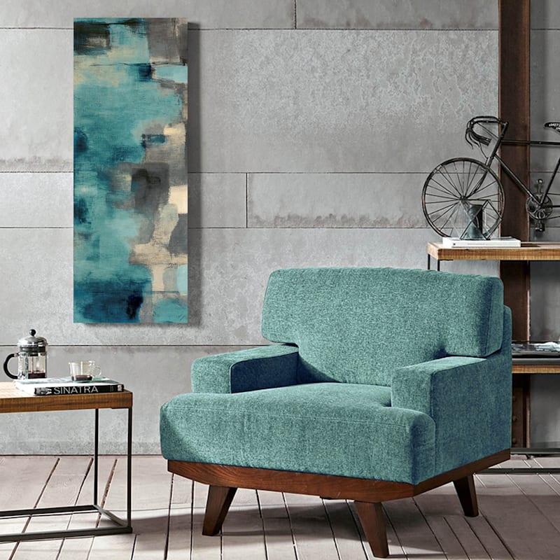 24X58 Downtown Blue Rain Canvas Art