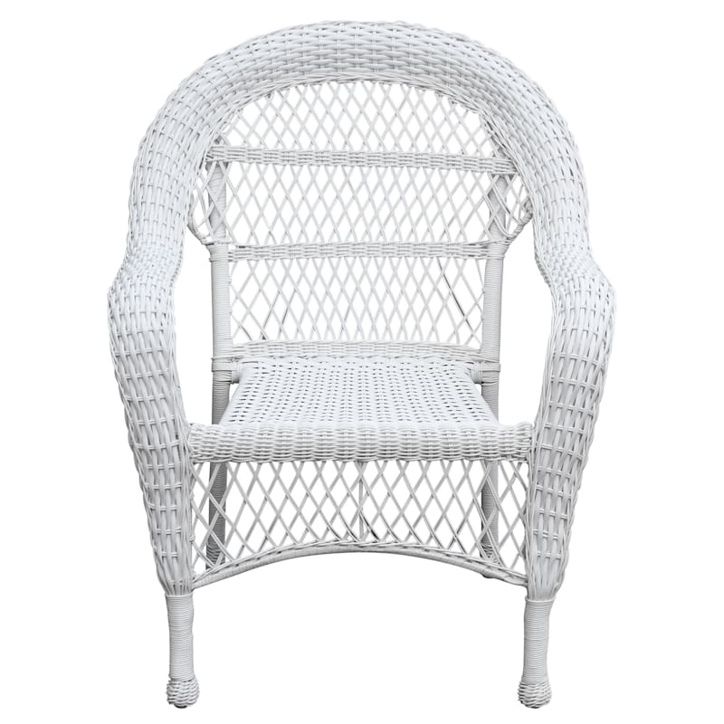 Outdoor Wicker Chair, White