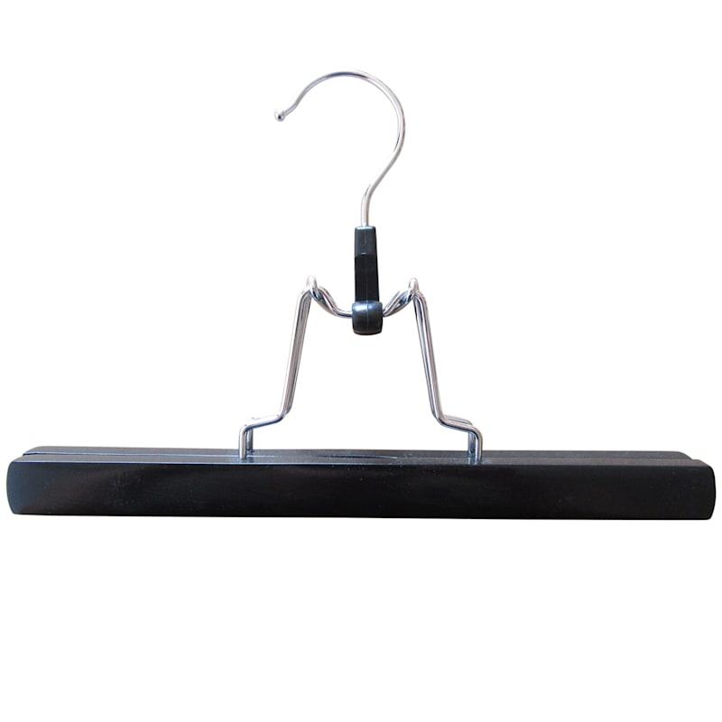 Wood Black 3-Piece Pant Hanger/Clamp