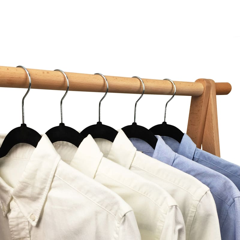 50-Pack Black Velvet Suit Hangers