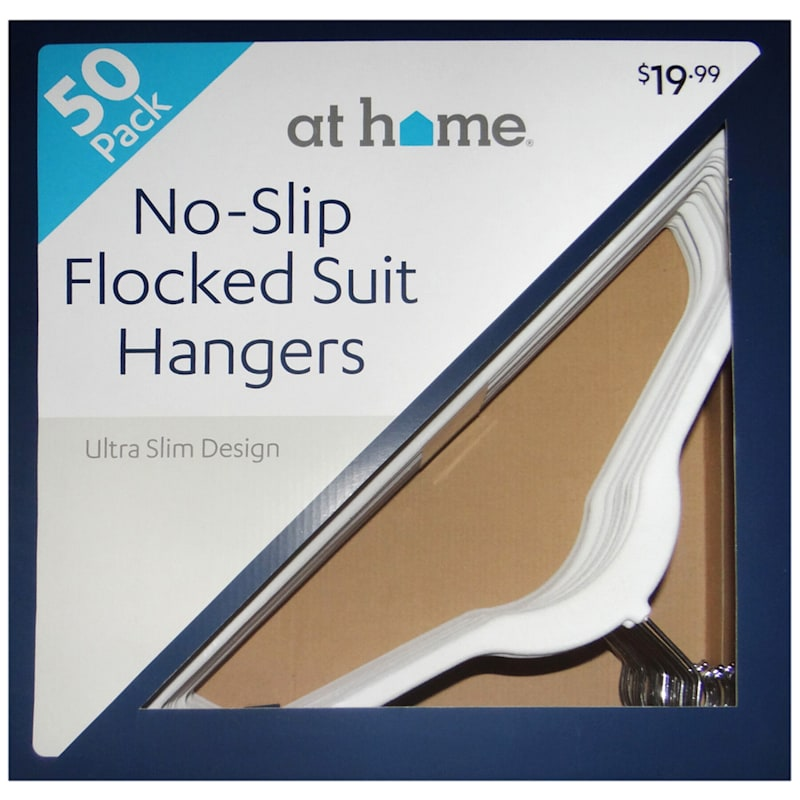50-Pack Pearl Velvet Suit Hangers