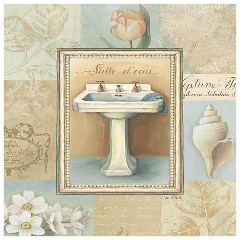 8X 10 Tranquil Bath Framed Art