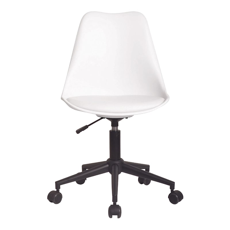 Sally Adjustable White Office Chair