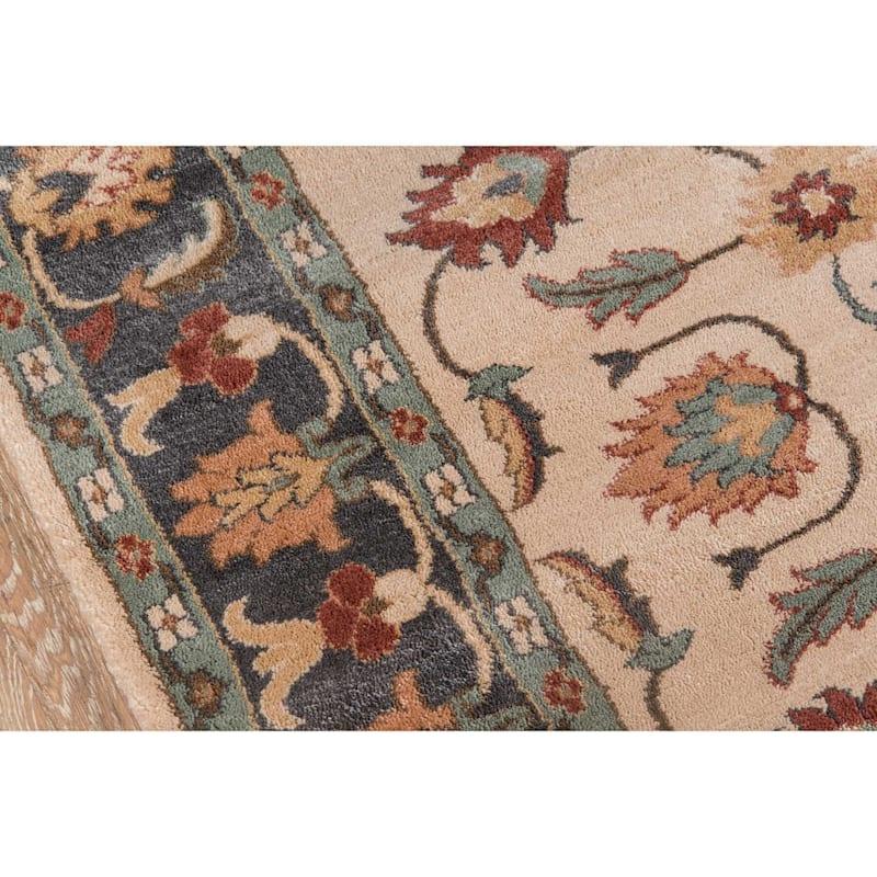 (A372) Collins Ivory & Sage Floral Area Rug, 8x10