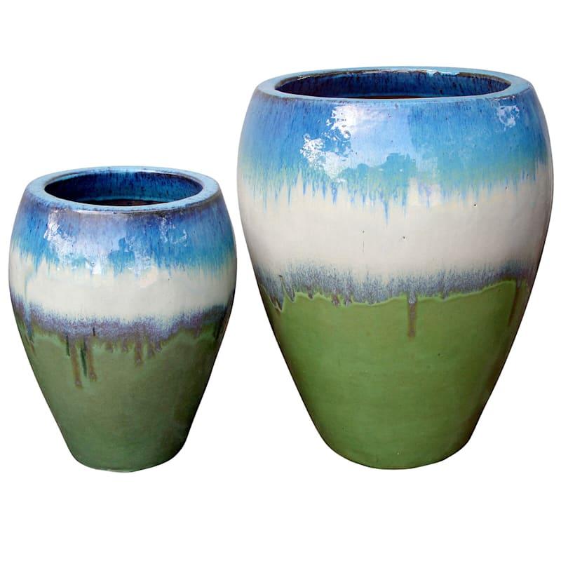 Arcadia Urn Ceramic Planter 16.9in. Tri