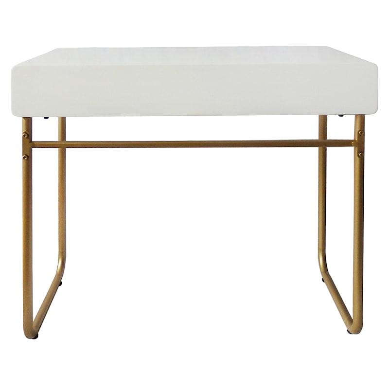 Instaglam White Gold Base Study Desk