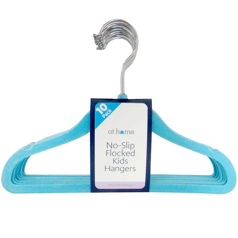 Velvet Kids Turquoise 10 Piece Hanger