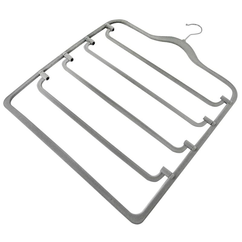 Velvet 4-Tier Grey Pant Hanger