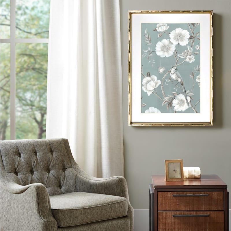 21x29 Framed Bird Song Print Under Glass