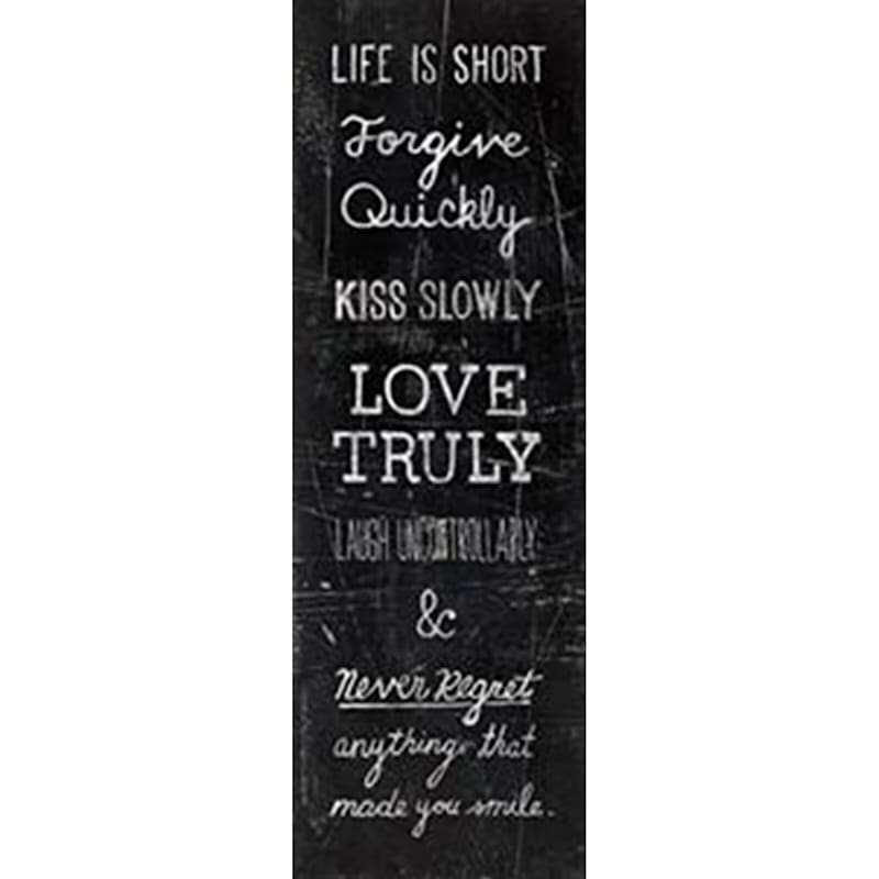12X36 Love Truly Typography Canvas Art