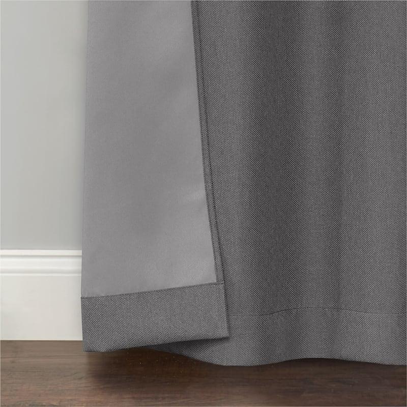 Rockwell Grey Solid Blackout Grommet Window Panel 63in.