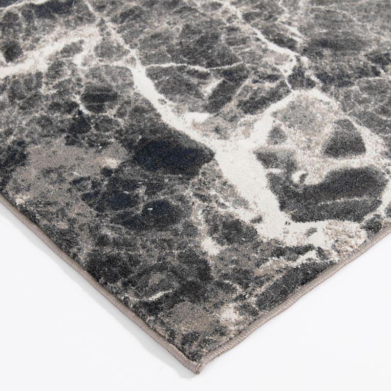 (B700) Adore Alaya Black & White Rug, 5x7