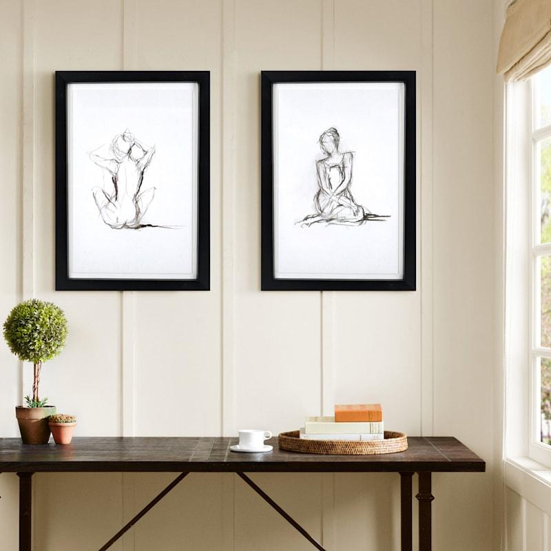 23X33 Figure Study Framed/Glass Art