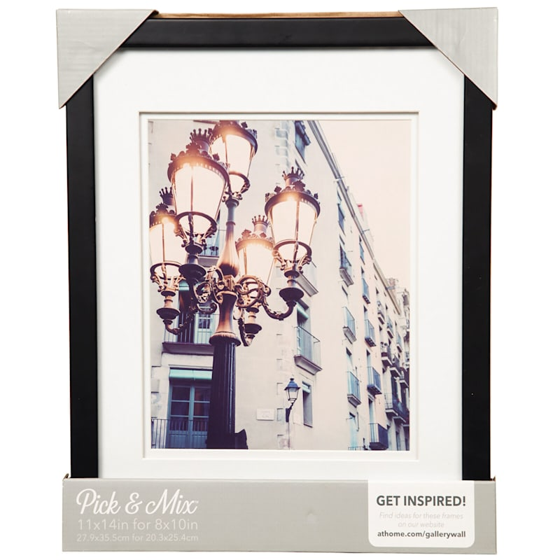 Pick And Mix 11X14 Matted To 8X10 White Mat Linear Photo Frame