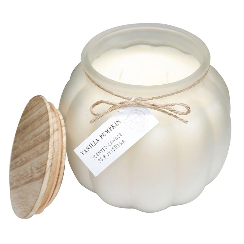 Vanilla Pumpkin Glass Jar Candle, 35.8oz