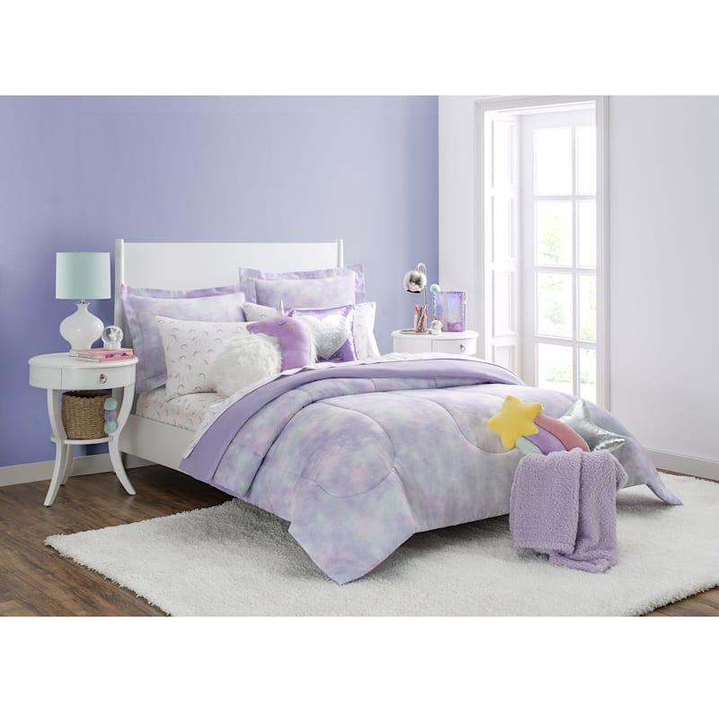 Purple 4-Piece Unicorn Sheet Set, Full