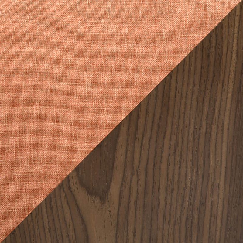 Gardenia Walnut & Orange Mid-Century Modern Adjustable Swivel Barstool