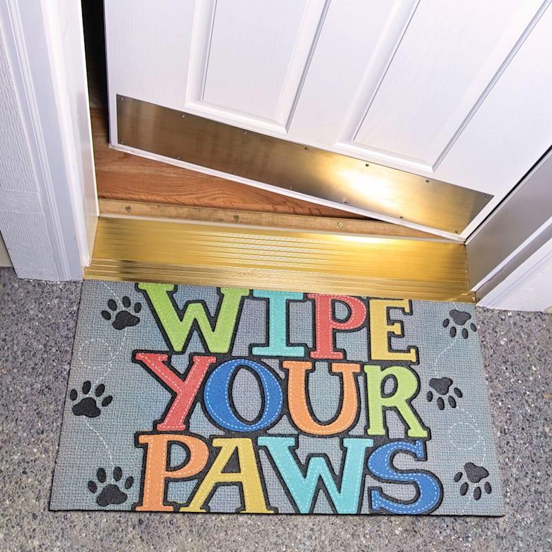 Wipe Your Paws Grey Doormat 30x18