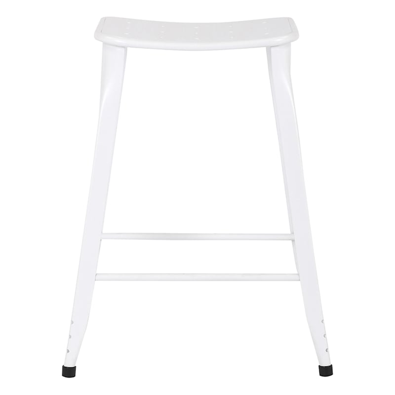 24IN WHITE COUNTER STOOL