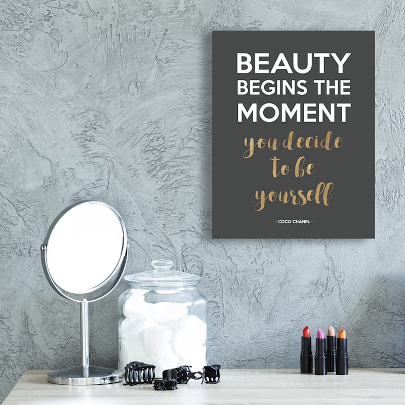 11X14 Be Yourself Foiled Canvas Art
