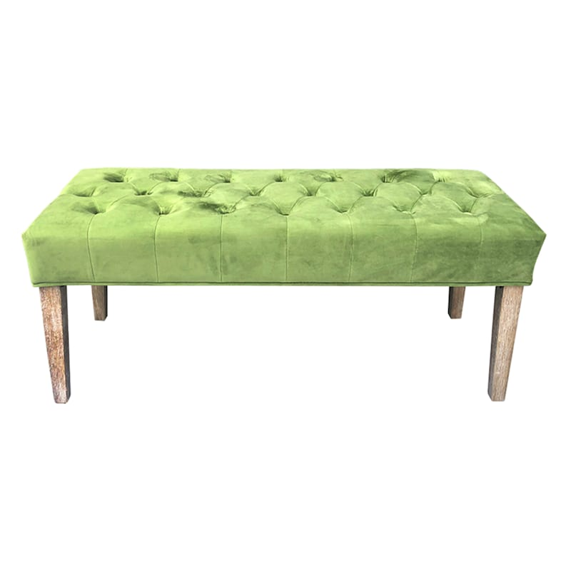 Grace Mitchell Courtney Tufted Bench, Green