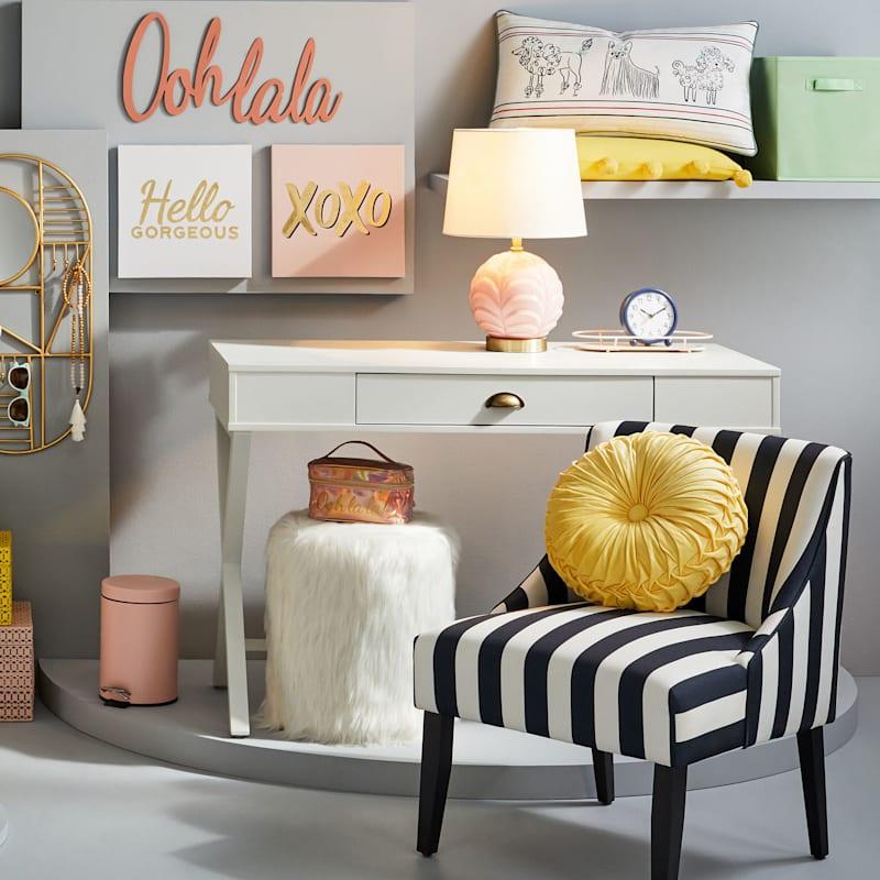 Navy/White Stripe Accent Chair