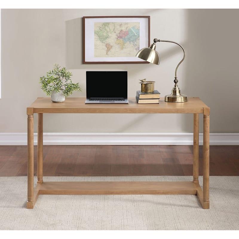 """Monaco Light Brown Wood Office Desk, 52"""""""