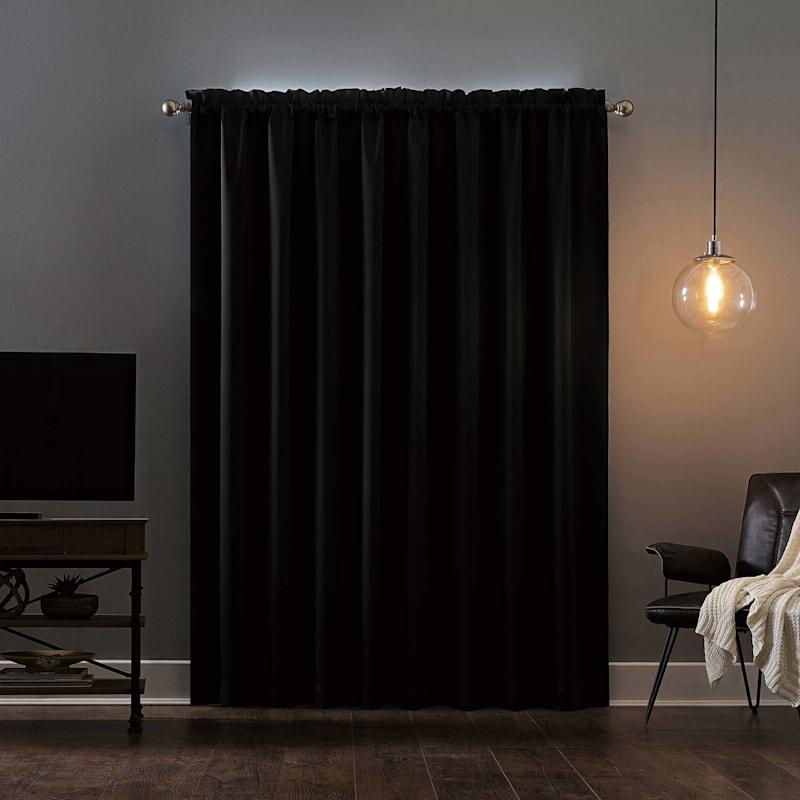 Oslo Black Blackout Grommet Window Panel 63in.