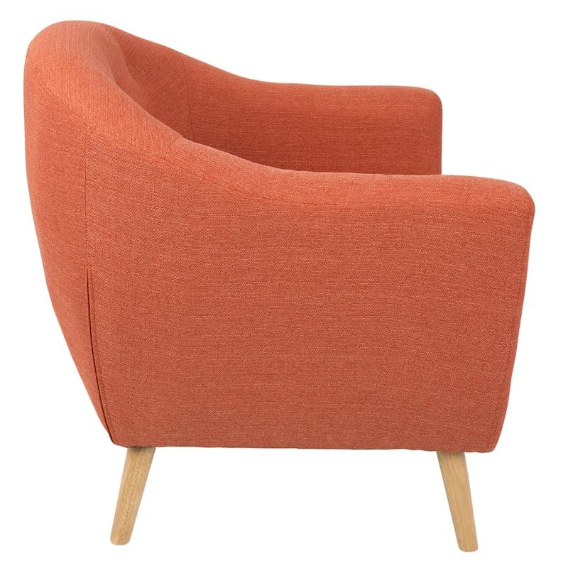 Rockwell Orange Mid-Century Modern Accent Chair