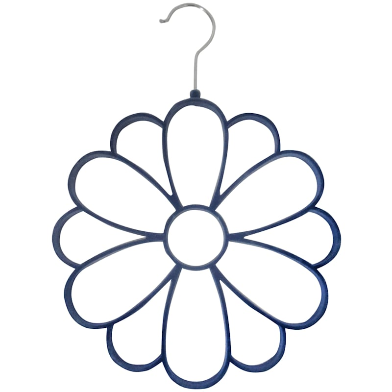 Velvet Blue Scarf Hanger